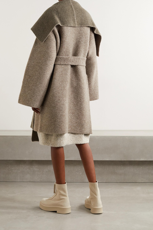Lauren Manoogian + NET SUSTAIN belted knitted coat