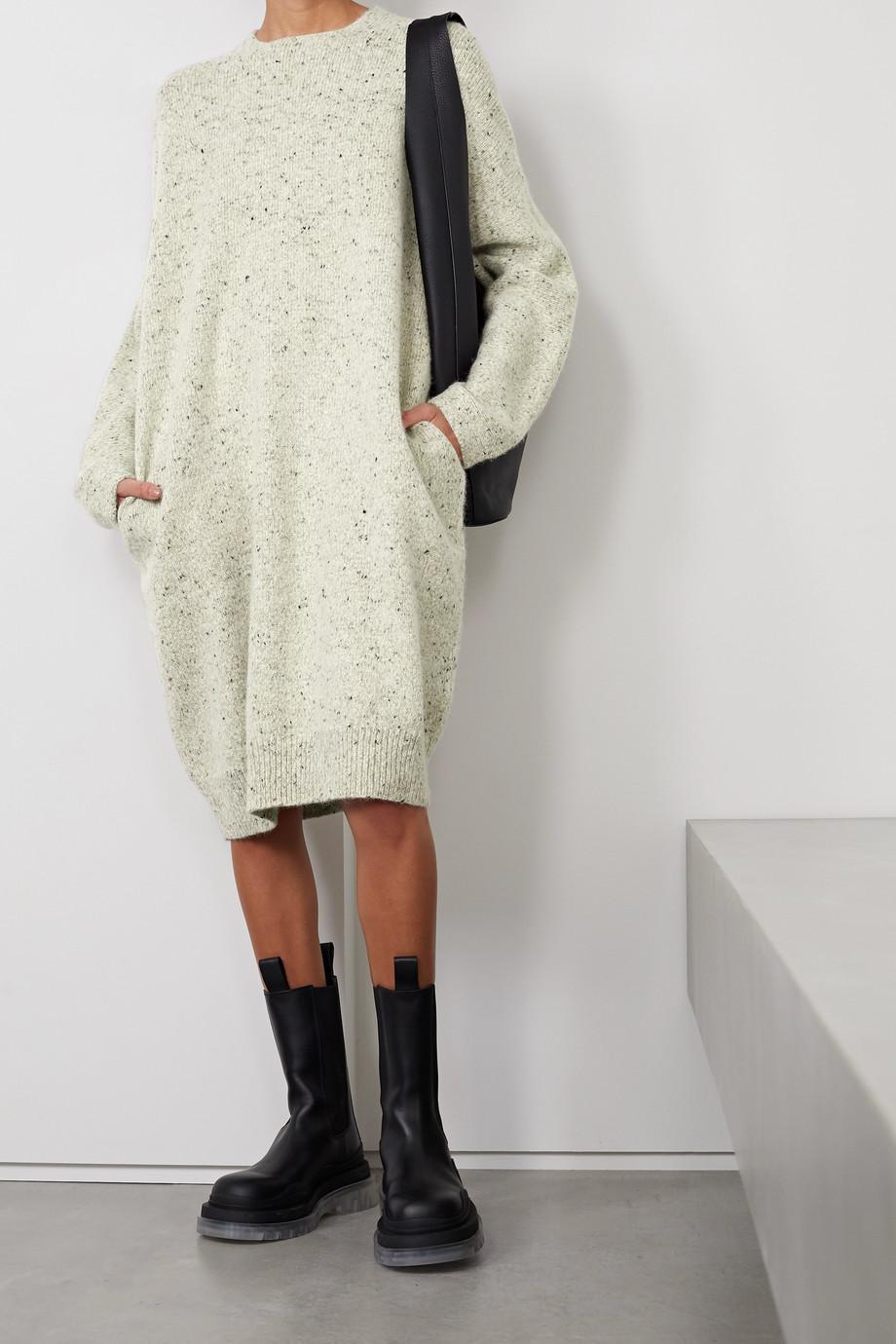 Lauren Manoogian + NET SUSTAIN mélange merino wool-blend dress