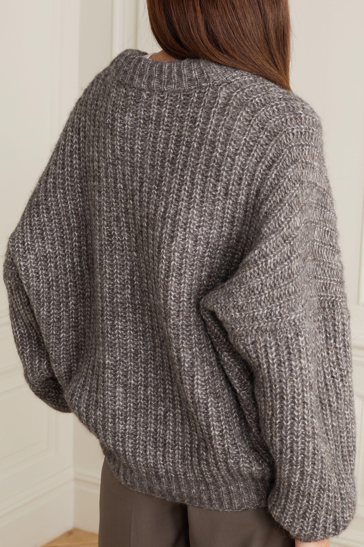 Lauren Manoogian Grandma ribbed Pima cotton, alpaca and wool-blend cardigan