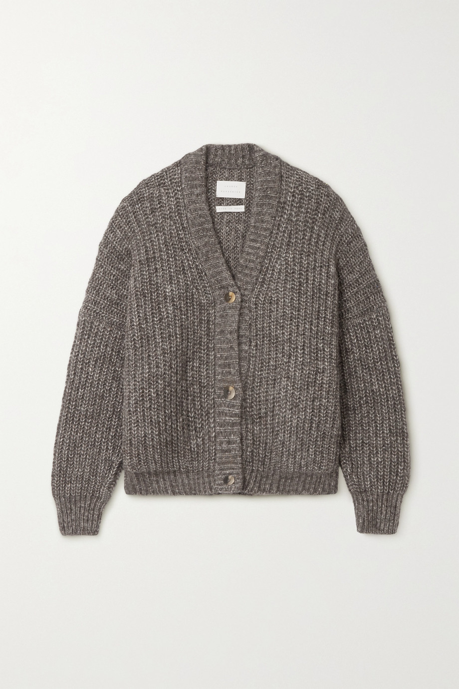 Lauren Manoogian Grandma ribbed Pima cotton, alpaca and wool-blend cardigan