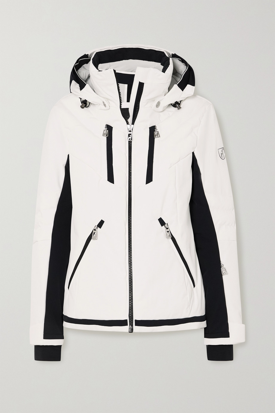 toni sailer Henni hooded two-tone ski jacket