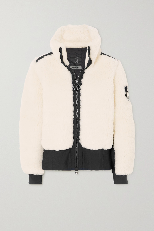 toni sailer Rika tech jersey-trimmed wool-blend faux shearling ski jacket