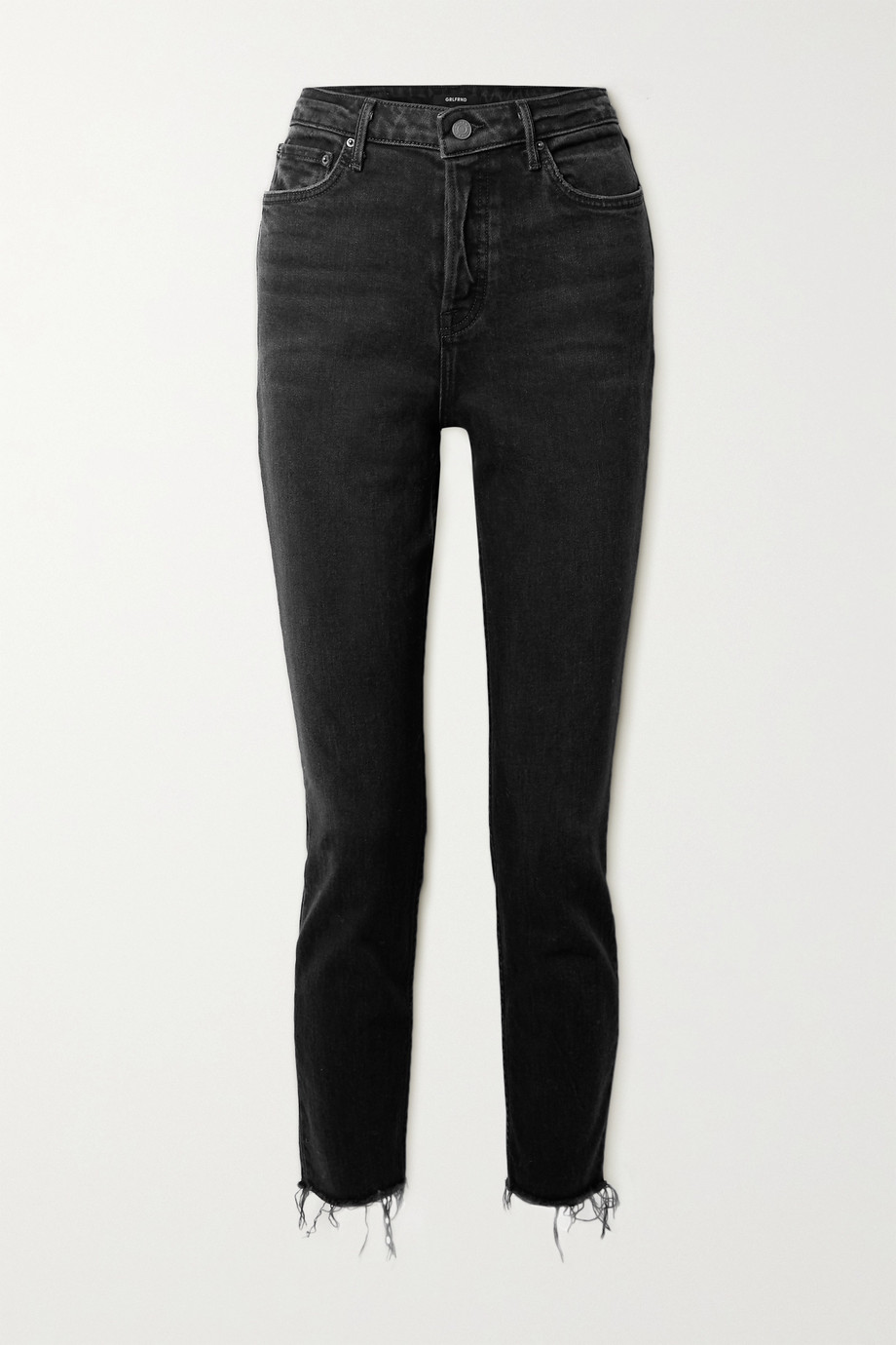 GRLFRND Karolina hoch sitzende Skinny Jeans mit Fransen