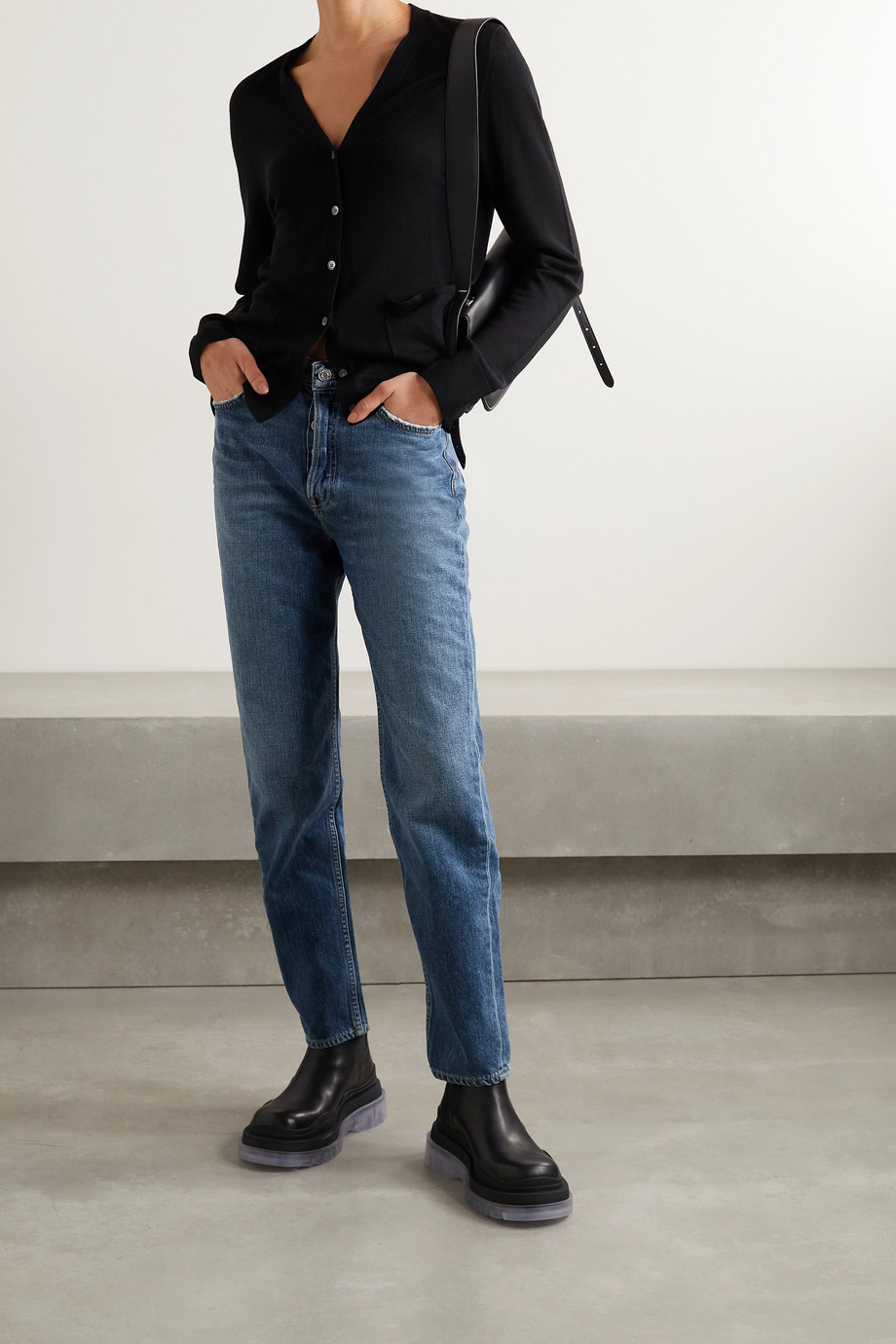 GRLFRND Devon high-rise straight-leg jeans
