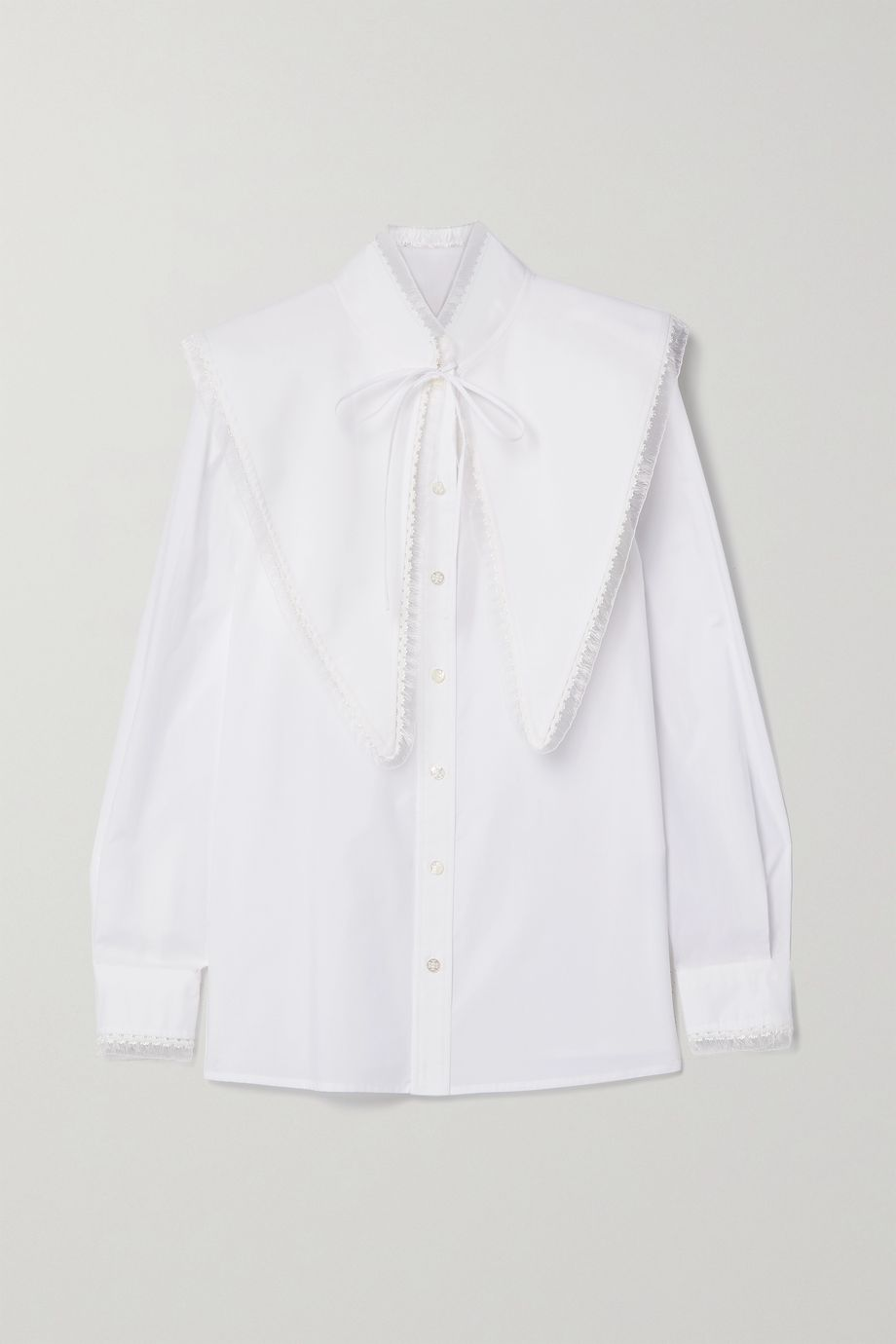 Tory Burch Convertible cotton-poplin shirt