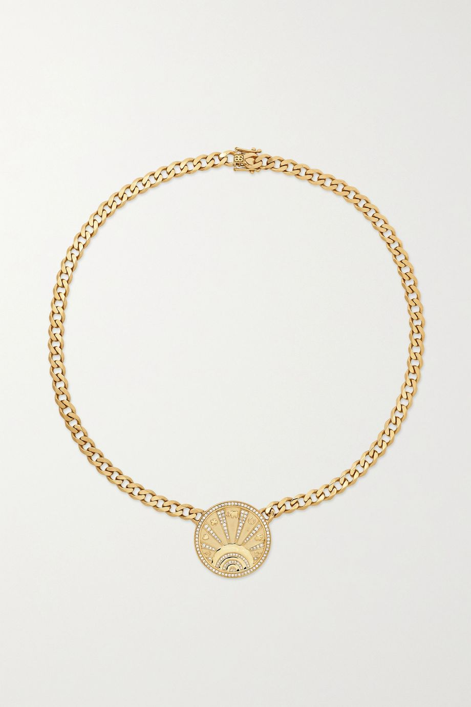 Sydney Evan Collier en or 14 carats et diamants