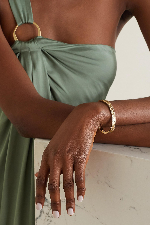 Sydney Evan Bracelet jonc en or 14 carats et diamants Icon