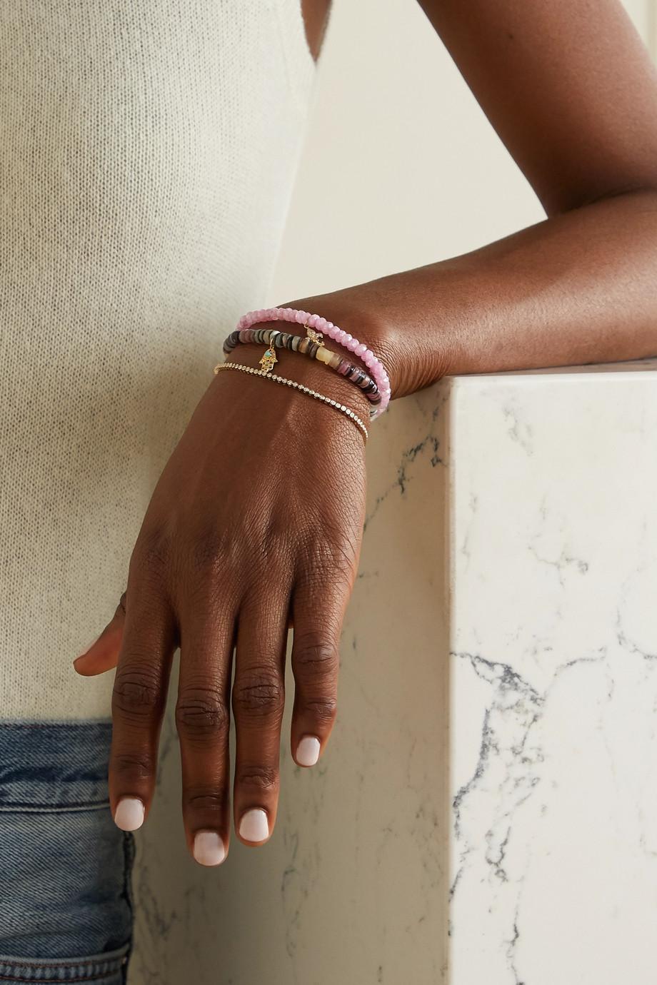 Sydney Evan Armband aus 14 Karat Gold mit Diamanten