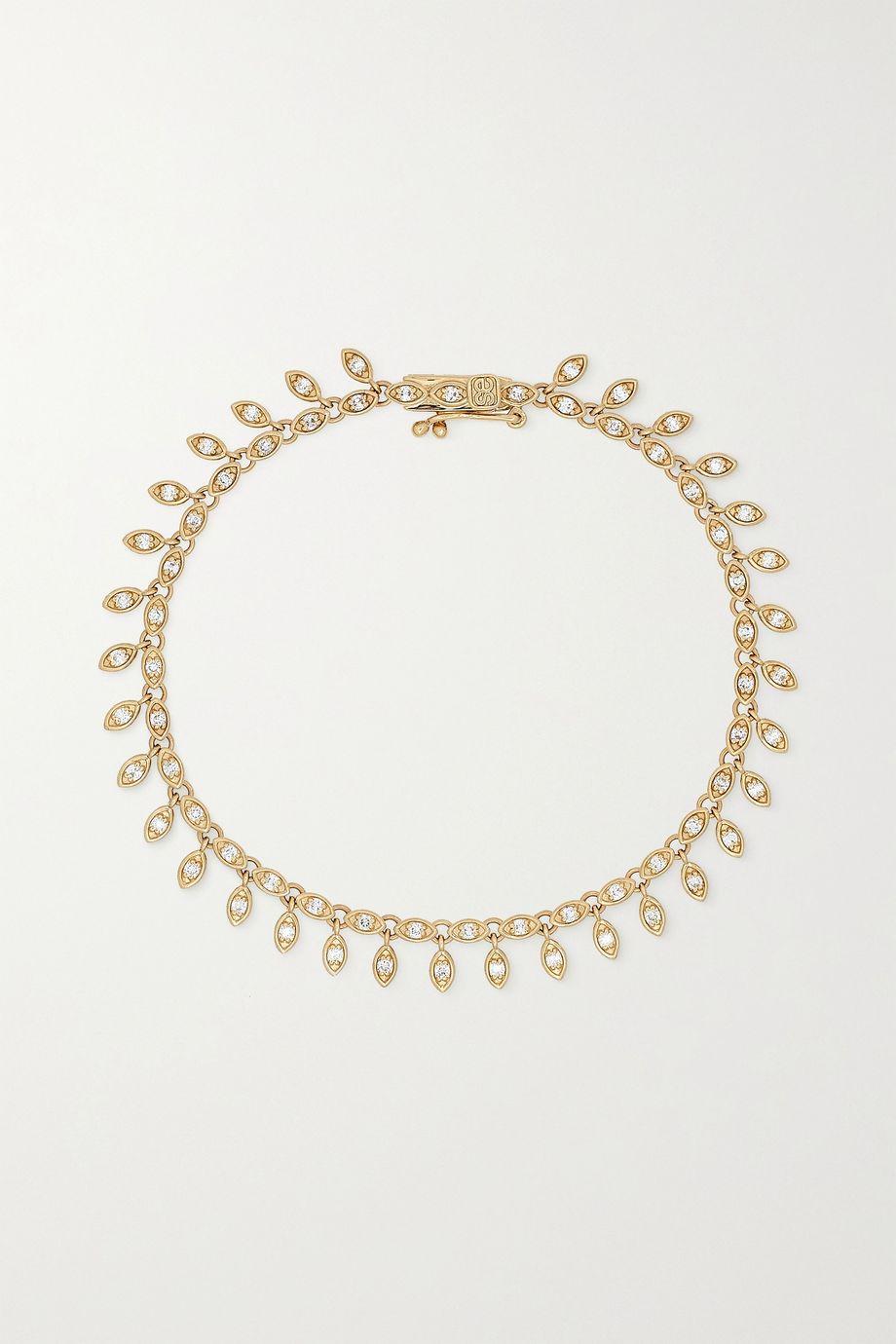 Sydney Evan Evil Eye Eternity 14-karat gold diamond bracelet