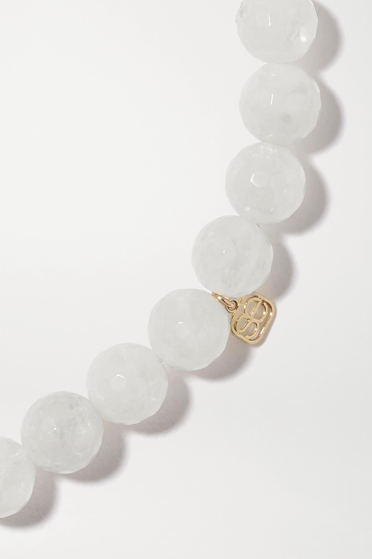 Sydney Evan Eternity Heart 14K 黄金、14K 白金、月长石、钻石手链