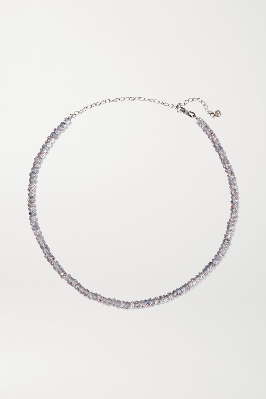 Sydney Evan Mystic Rainbow 18-karat gold, quartz and diamond choker