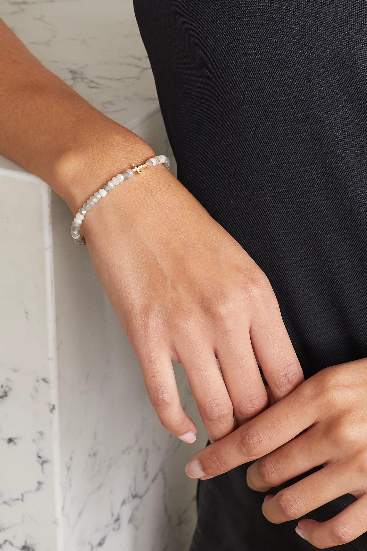 Sydney Evan Bracelet en or 14 carats, silverites et diamants