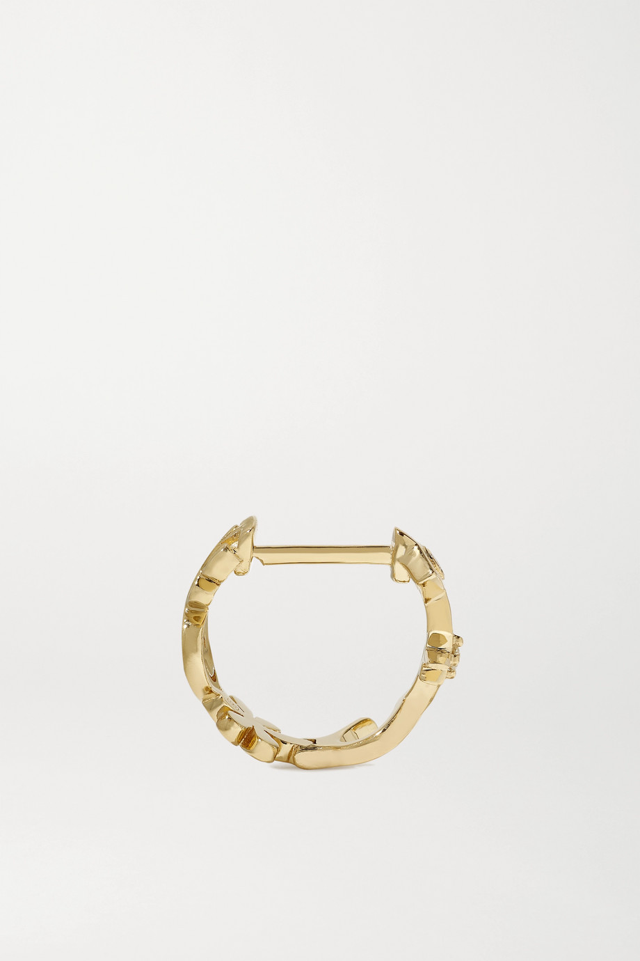 Sydney Evan Icon Huggie 14-karat gold diamond hoop earrings