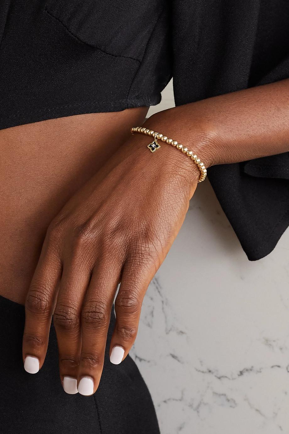 Sydney Evan Armband aus 14 Karat Gold mit Emaille und Diamant
