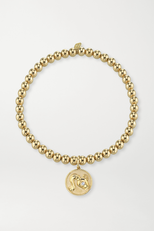 Sydney Evan Aquarius 14K 黄金钻石手链(水瓶座)