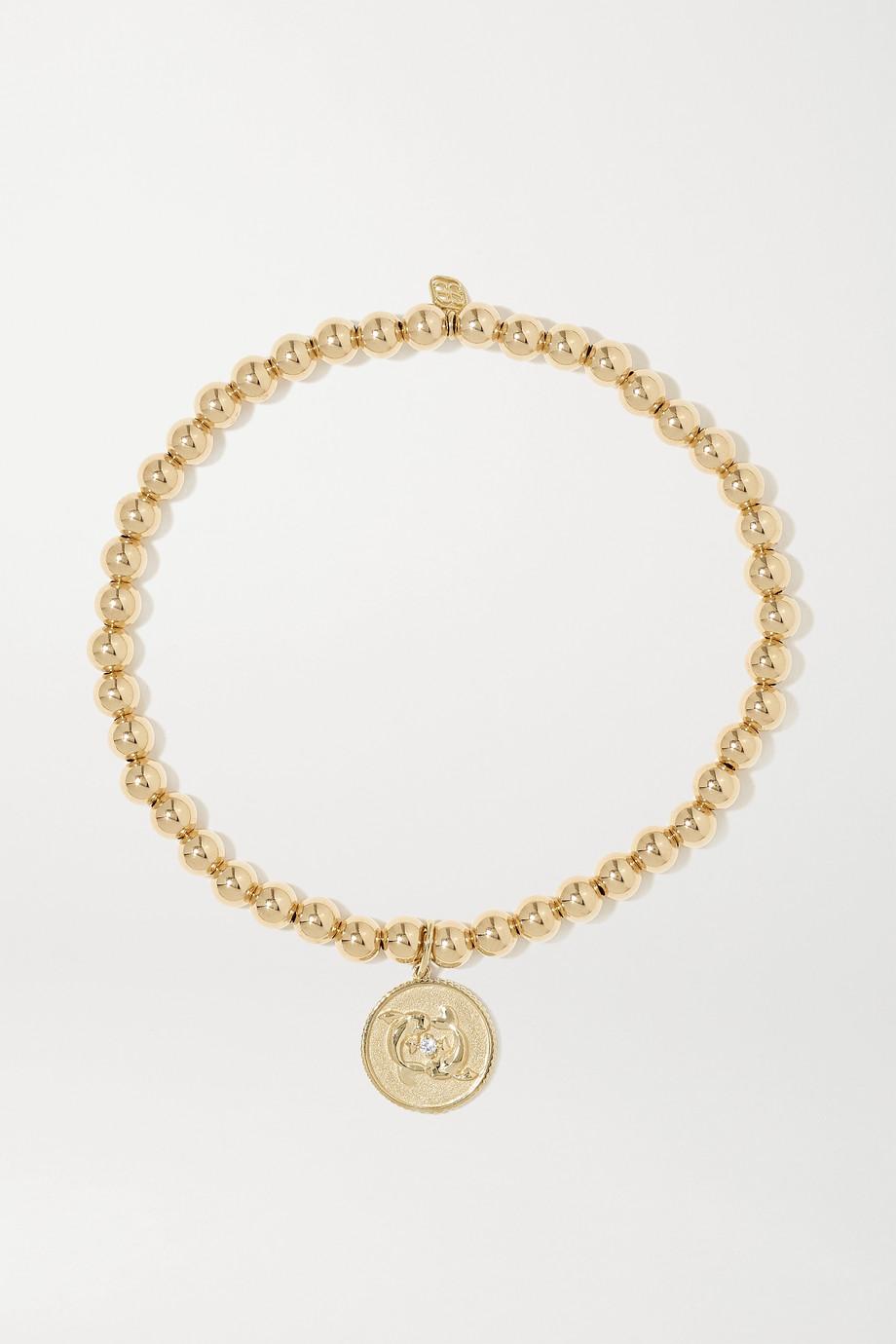 Sydney Evan Pisces 14-karat gold diamond bracelet