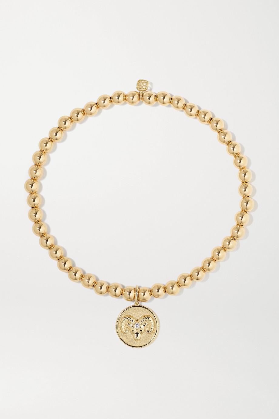 Sydney Evan Aries 14-karat gold diamond bracelet