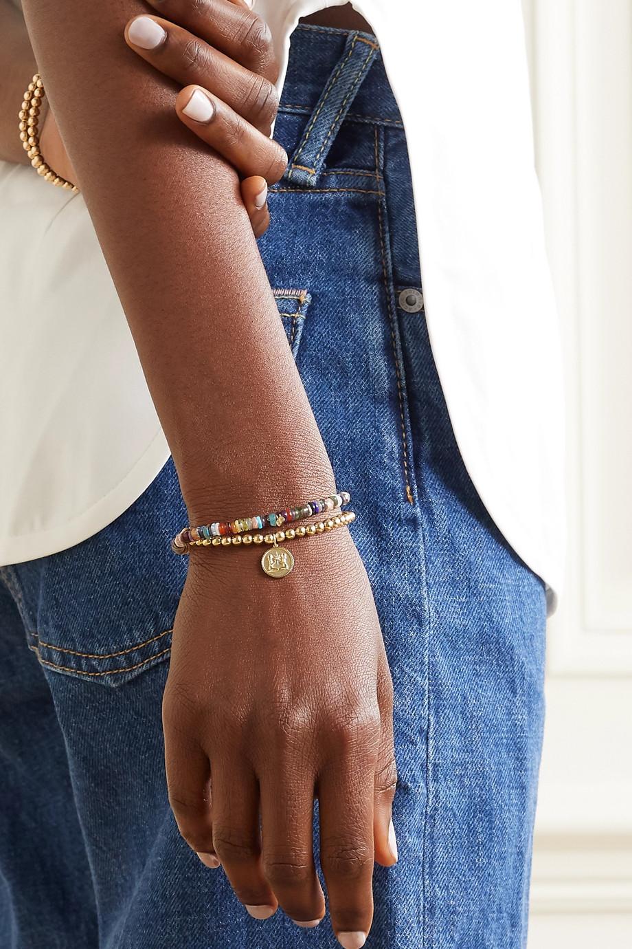 Sydney Evan Gemini 14-karat gold diamond bracelet