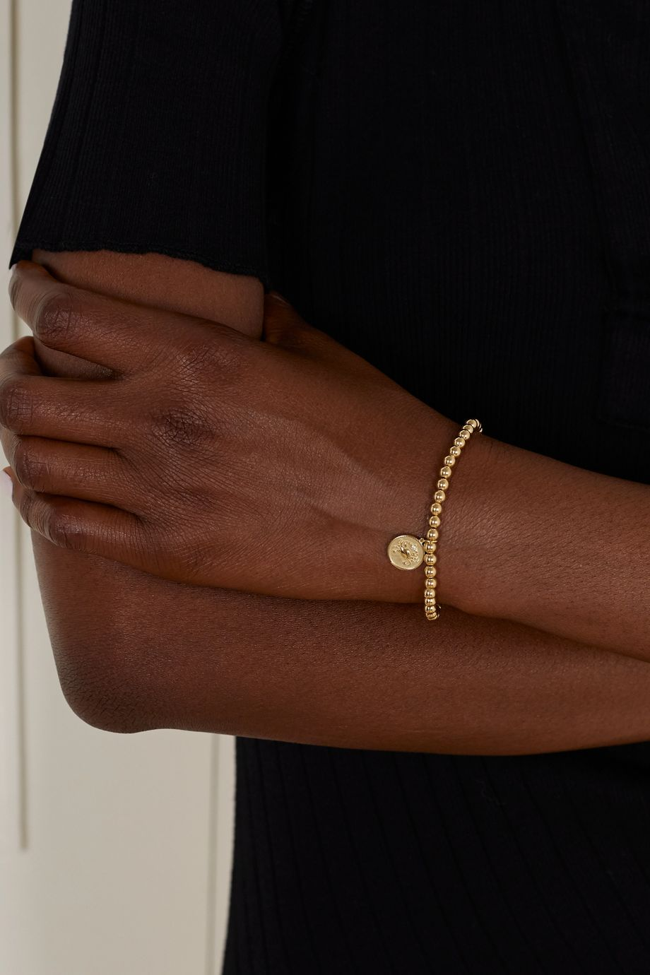Sydney Evan Cancer 14-karat gold diamond bracelet