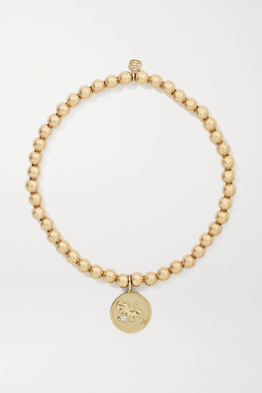 Sydney Evan Leo 14-karat gold diamond bracelet
