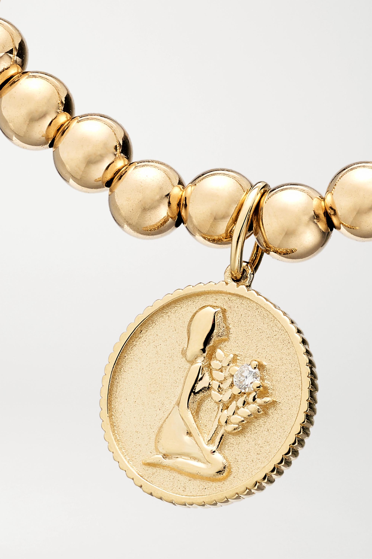 Gold Virgo 14-karat Diamond Bracelet | Sydney Evan