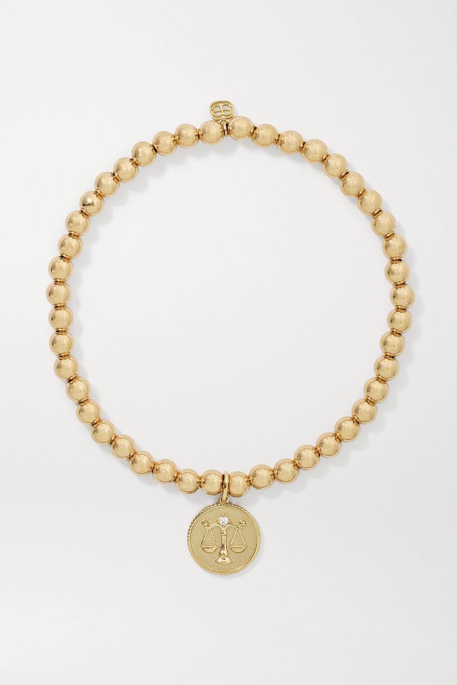 Sydney Evan Libra 14-karat gold diamond bracelet