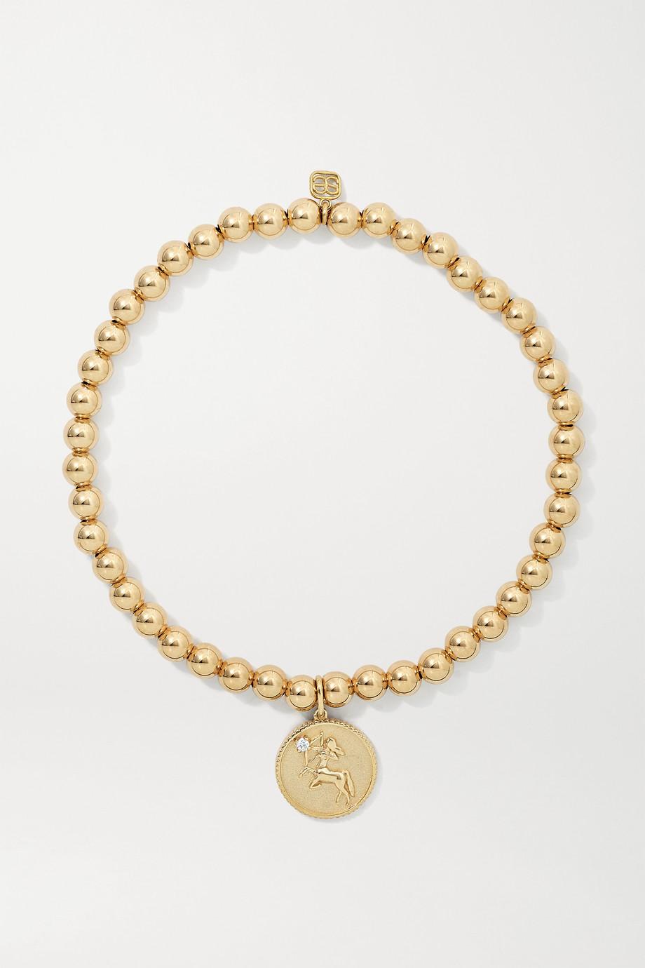 Sydney Evan Sagittarius 14-karat gold diamond bracelet