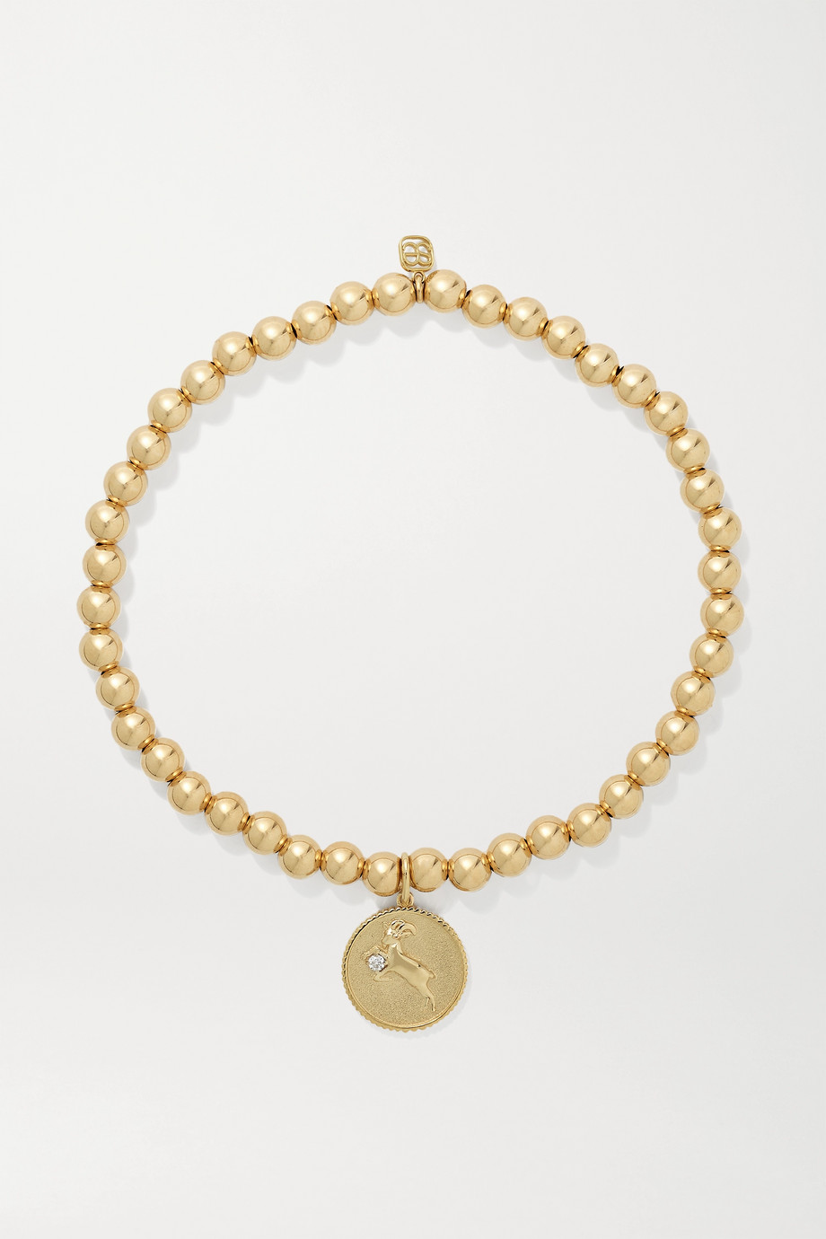 Sydney Evan Capricorn 14-karat gold diamond bracelet