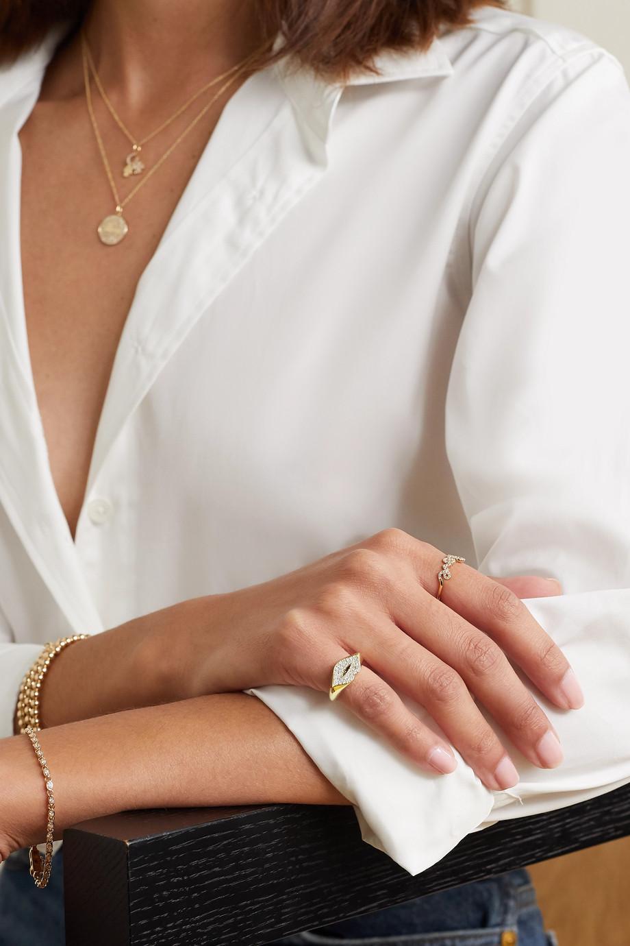 Sydney Evan Lips 14-karat gold diamond ring