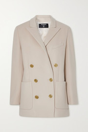 Balmain Double-breasted wool and cashmere-blend blazer