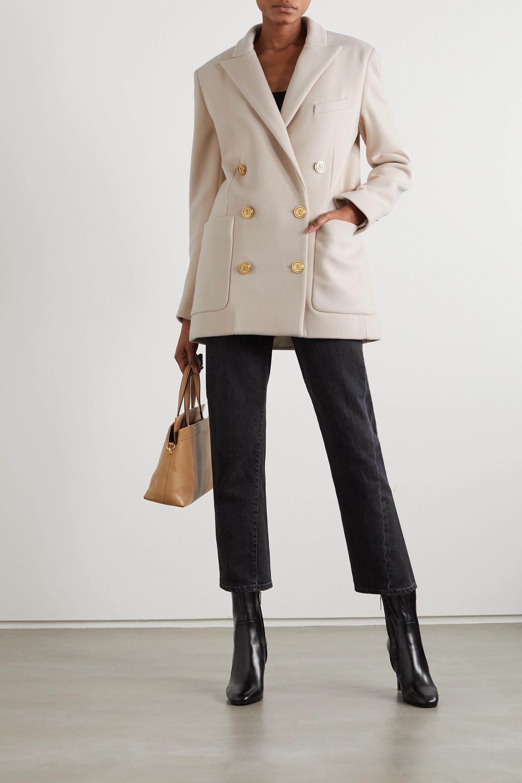 Balmain 双排扣羊毛羊绒混纺西装外套