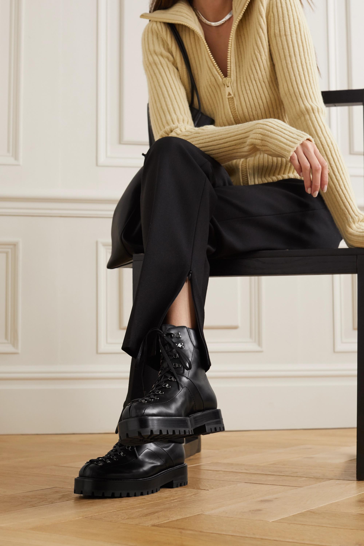 Alaïa 40 leather platform ankle boots