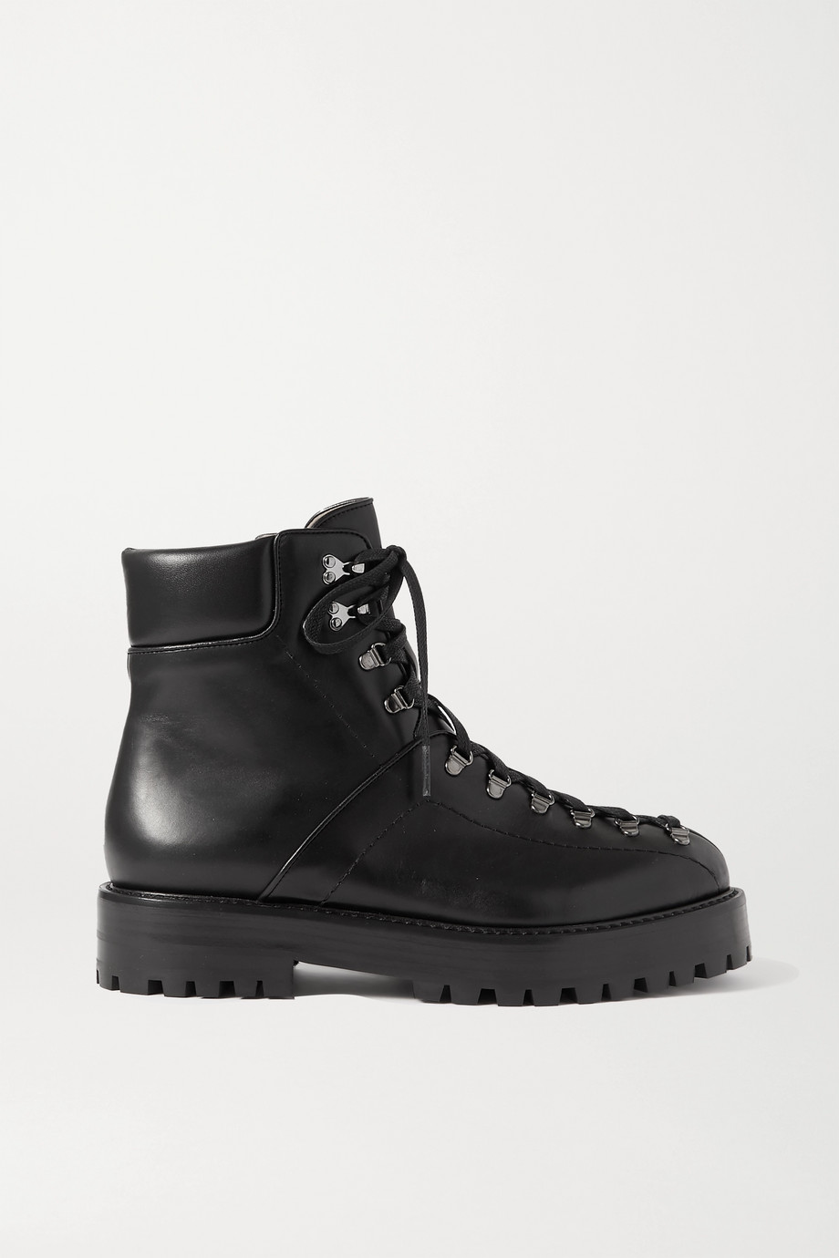 Alaïa 40 leather platform ankle boots