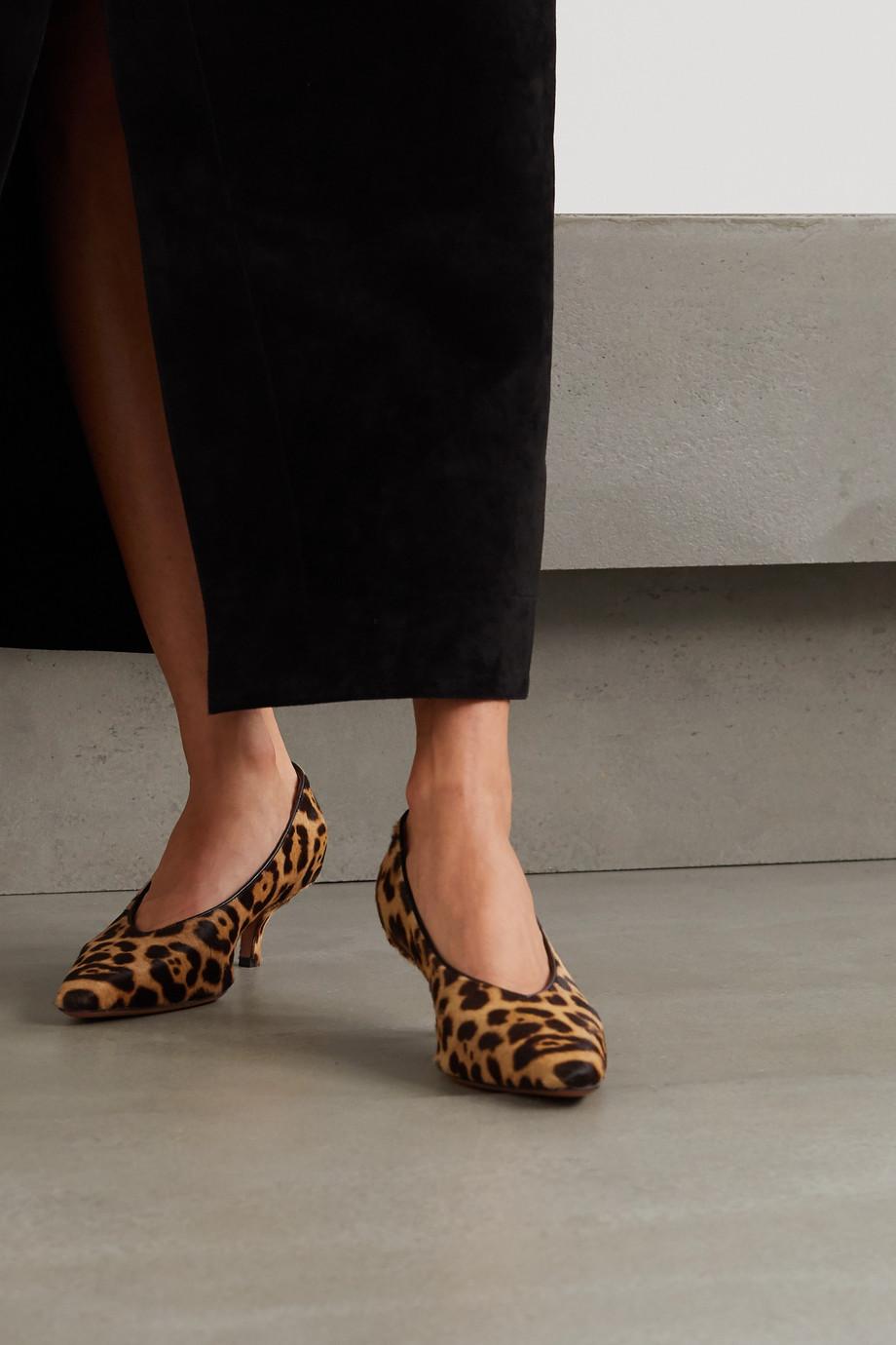 Alaïa Escarpins en façon poulain à imprimé léopard et à finitions en cuir 55 mm