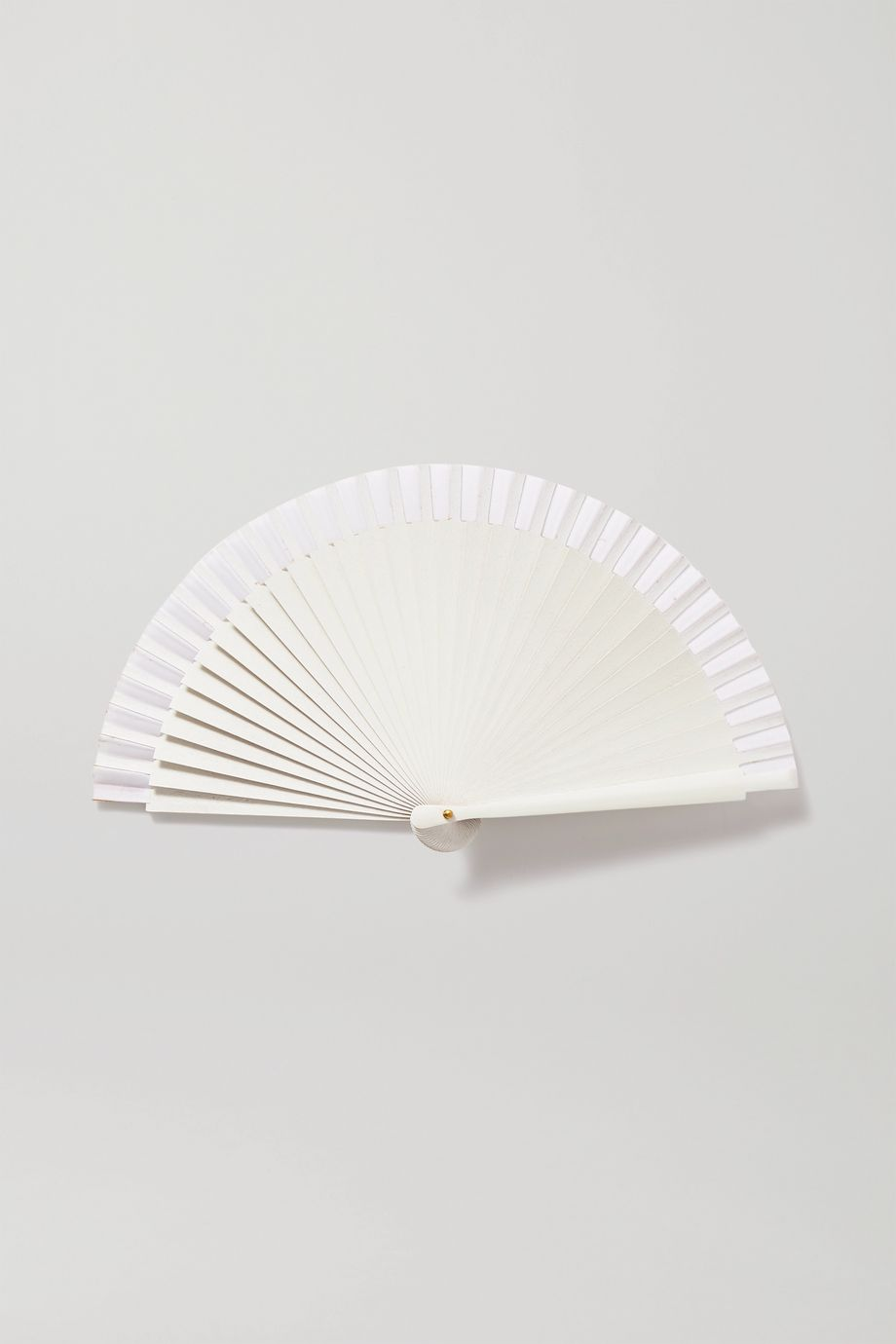 Fern Fans Painted birch wood and cotton-voile fan