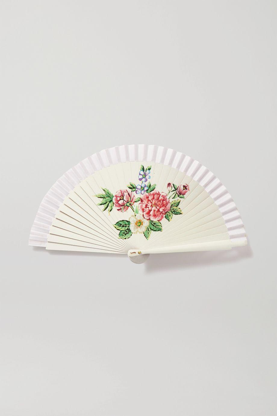 Fern Fans 绘色桦木棉质巴里纱折扇