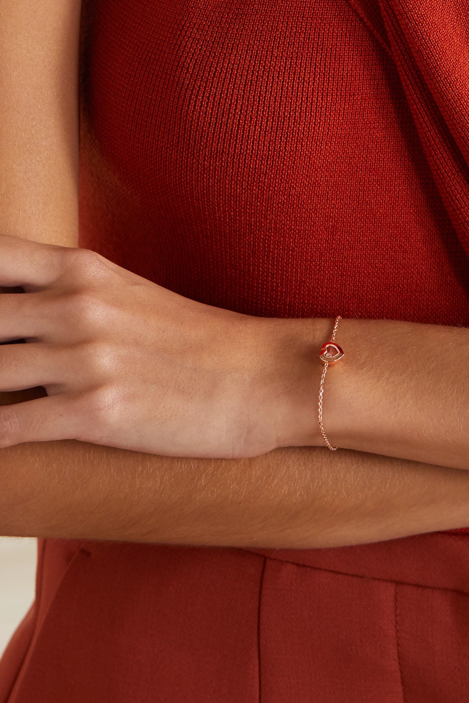 Chopard Bracelet en or rose 18 carats et diamant Happy Diamonds