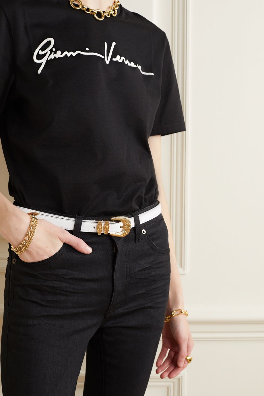 Versace Leather waist belt