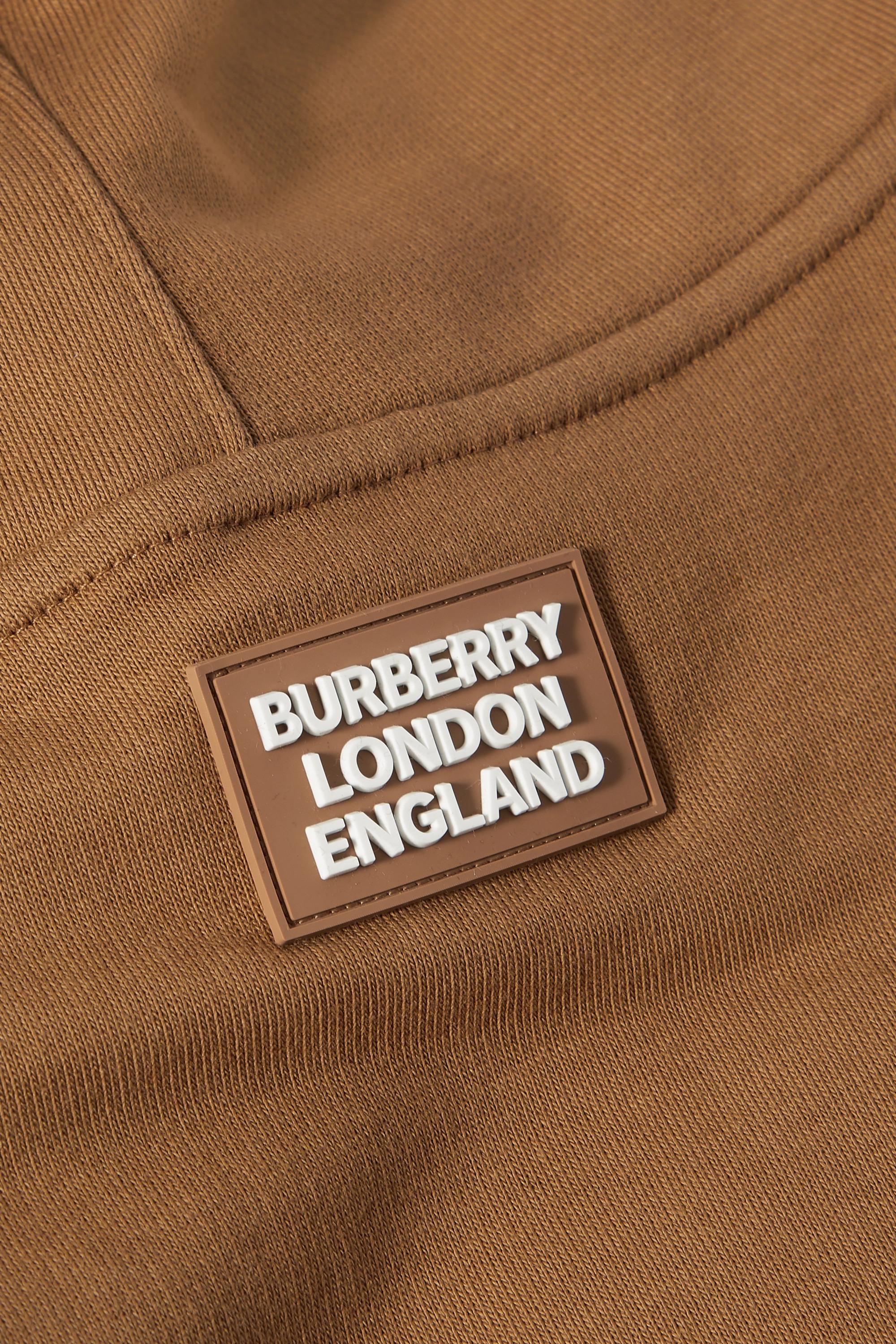 Burberry Appliquéd cotton-jersey hood