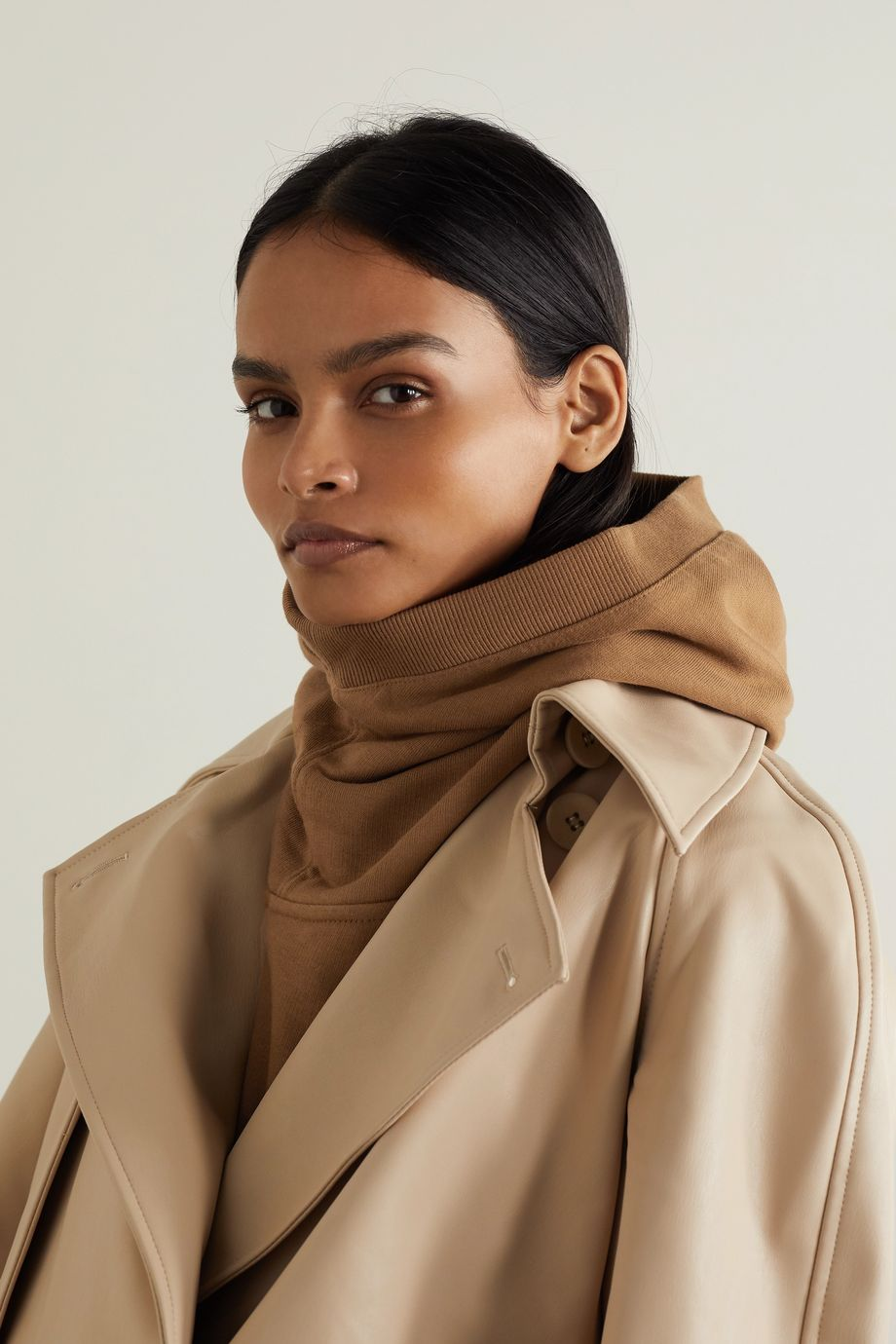 Burberry Appliquéd cotton-jersey hood