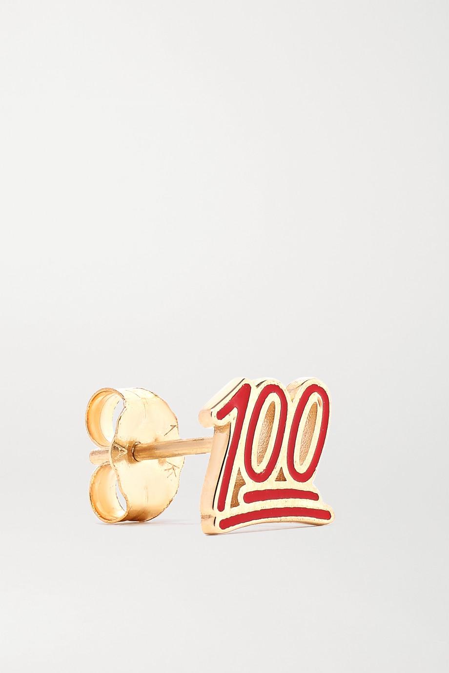Alison Lou 100 Ohrring aus 14 Karat Gold mit Emaille