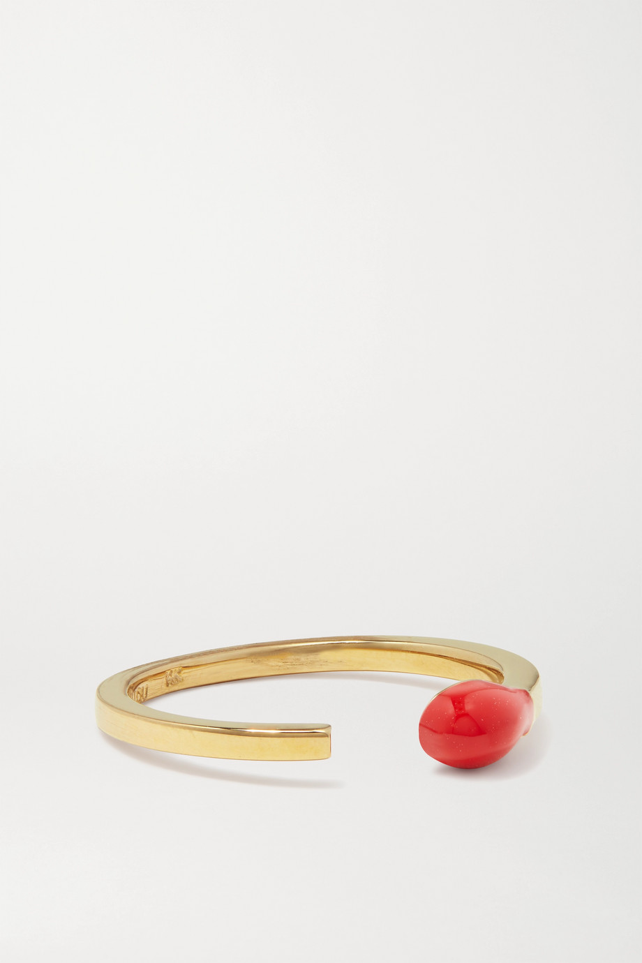 Alison Lou Match Stack 14-karat gold and enamel ring