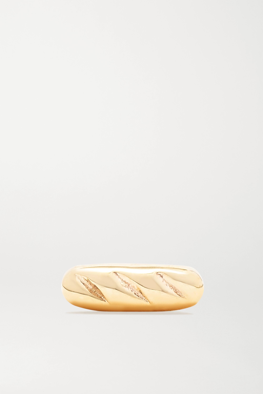 Alison Lou Baguette 14-karat gold earring