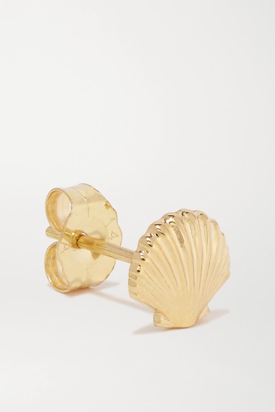 Alison Lou Seashell Ohrring aus 14 Karat Gold