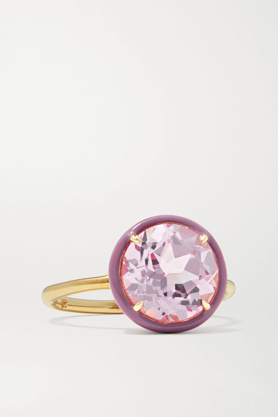 Alison Lou 14K 黄金、蓝宝石、搪瓷戒指