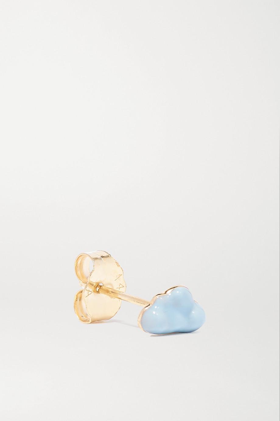 Alison Lou Ohrring aus 14 Karat Gold mit Emaille
