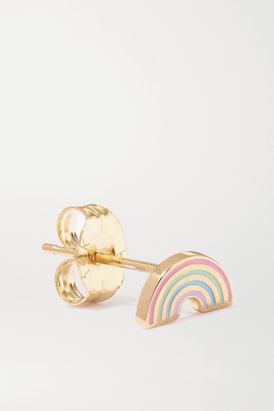 Alison Lou Rainbow Ohrring aus 14 Karat Gold mit Emaille
