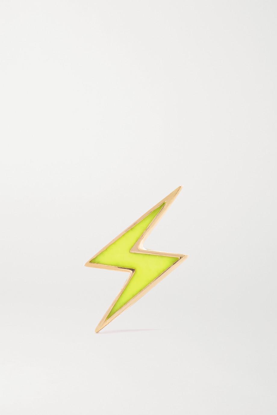 Alison Lou Lightning Bolt Ohrring aus 14 Karat Gold mit Emaille