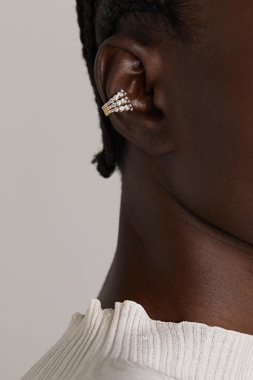 Melissa Kaye Aria Ear Cuff aus 18 Karat Gold mit Diamanten