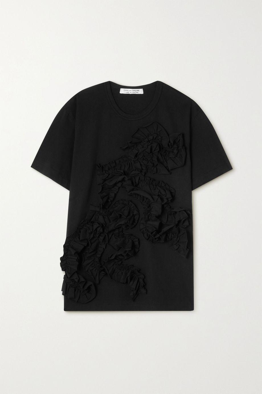 Comme des Garçons Comme des Garçons T-Shirt aus Baumwoll-Jersey mit Rüschen